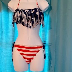 Other - Stars/stripes 2 piece string bikini